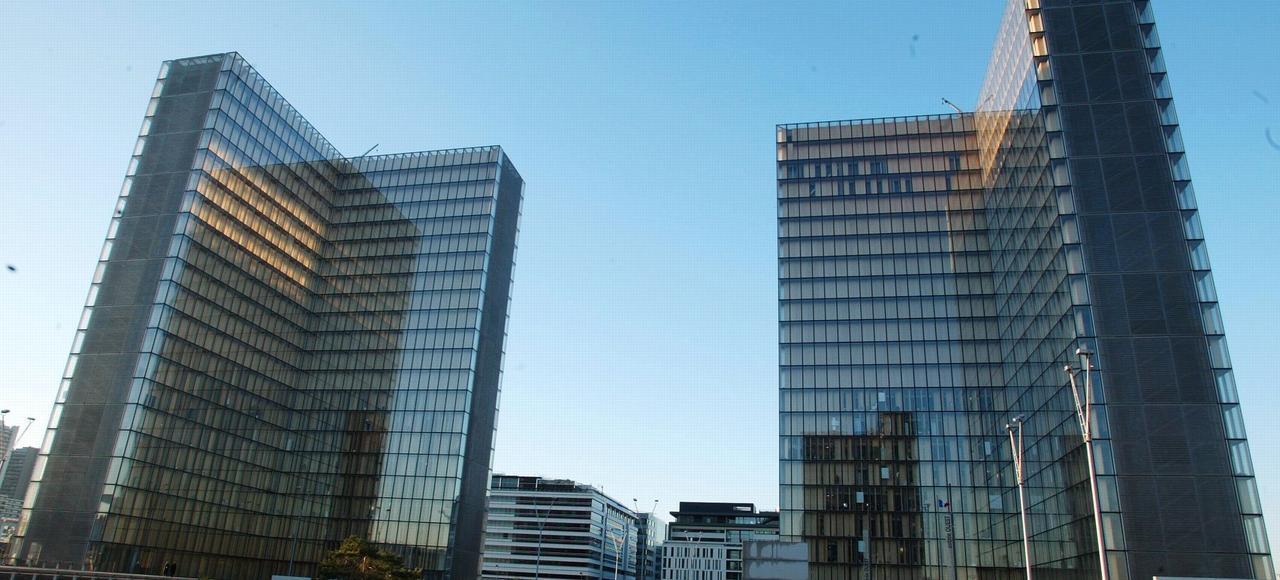 La Bibliothèque nationale de France, située dans le 13e arrondissement de Paris.