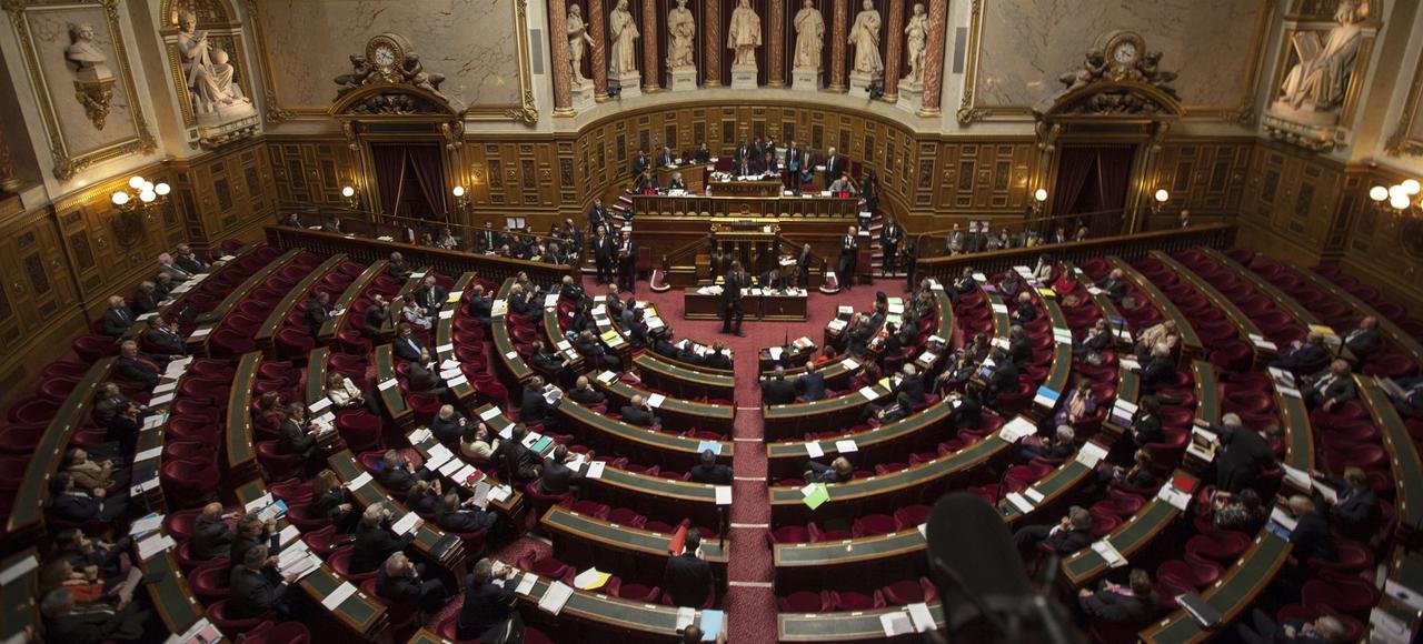 L'hémicycle du Sénat, lors des débats sur le mariage pour tous, en avril2013.