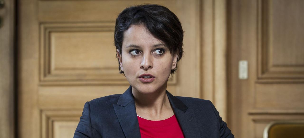 La ministre de l'Éducation, Najat Vallaud-Belkacem.