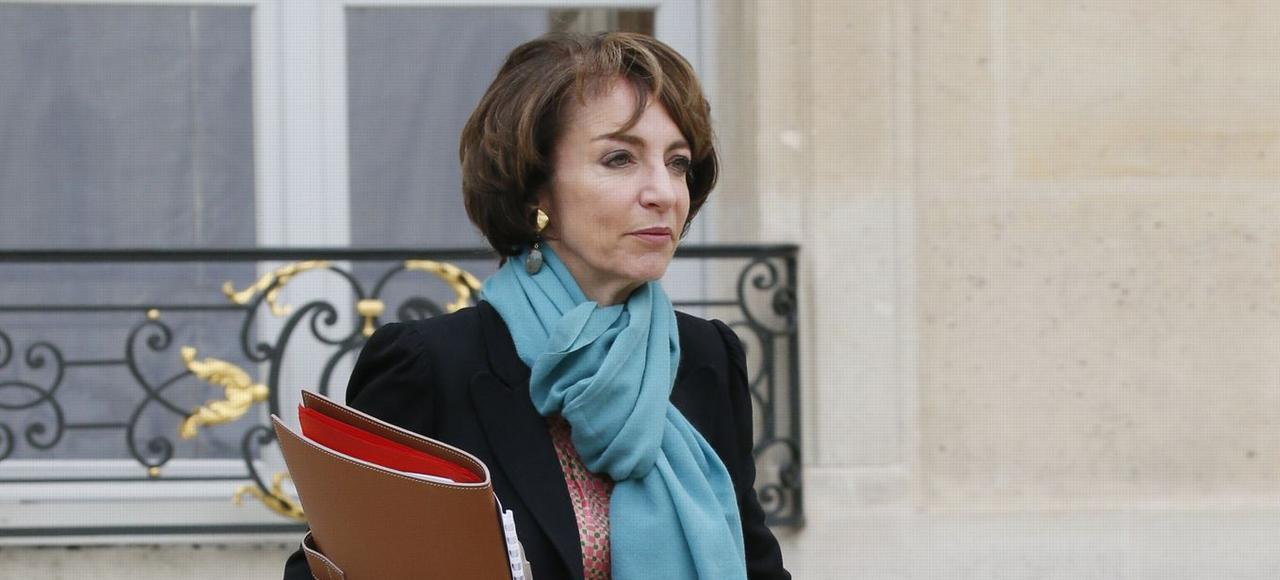 Marisol Touraine, ministre de la Santé, sortant de l'Élysée le 24 mars.