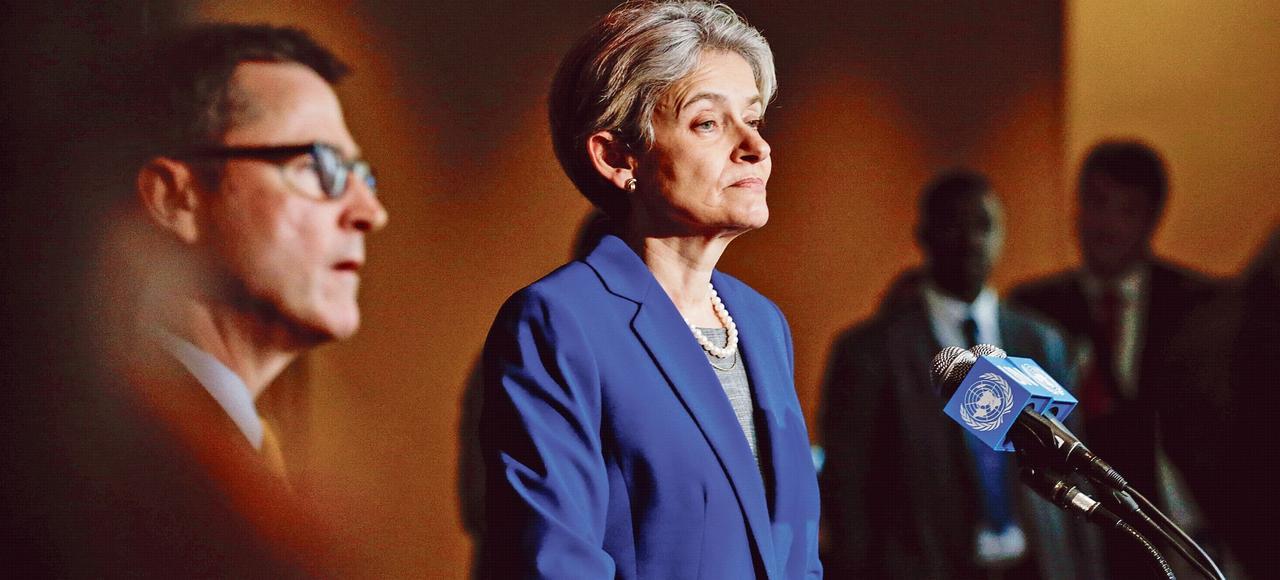 Malgré une prestation en demi-teinte, la Bulgare Irina Bokova, présidente en exercice de l'UNESCO fait figure de favorite.
