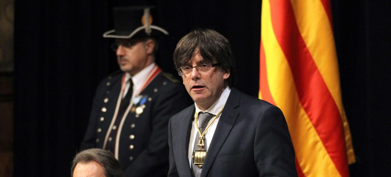 «Il faut préparer des lois et des instruments d'État. Quand ce sera prêt, la législature arrivera à son terme et nous convoquerons des élections pour élire une assemblée constituante», anticipe Carles Puigdemont (ici le 12 janvier à Barcelone).