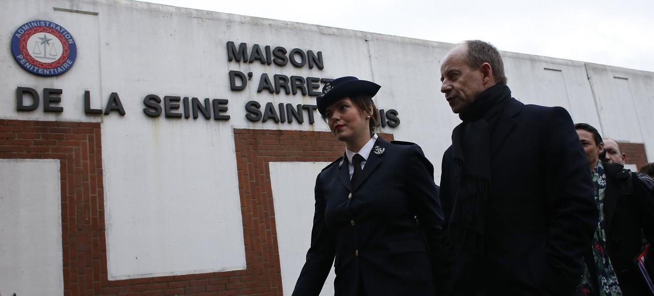 Le ministre de la Justice, Jean-Jacques Urvoas, en visite à la prison de Villepinte le 4 février dernier. Crédits photo: Thomas Samson/AFP