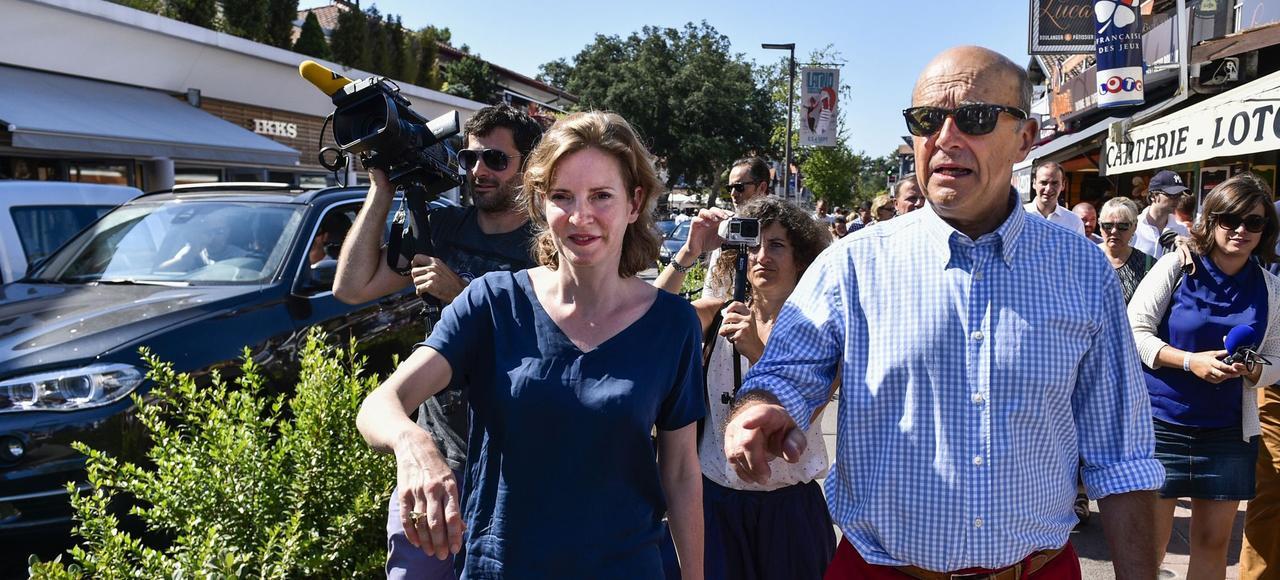Nathalie Kosciusko-Morizet et Alain Juppé se sont retrouvés à Hossegor, le 14 août 2016.