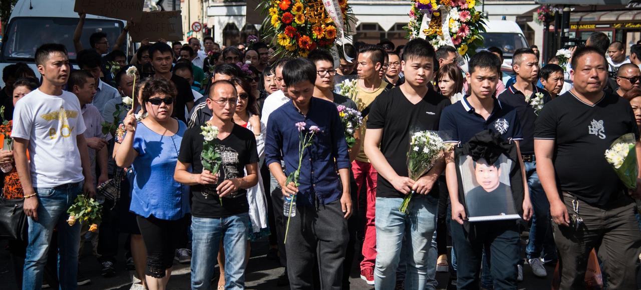 Le 14 août, la communauté chinoise d'Aubervilliers a organisé une marche à la mémoire de Zhang Chaolin, un quadragénaire décédé après une violente agression.