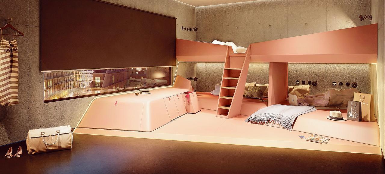 Le design des chambres a été confié à Lee Penson, qui a notamment pensé les bureaux de Google et de YouTube en Angleterre.