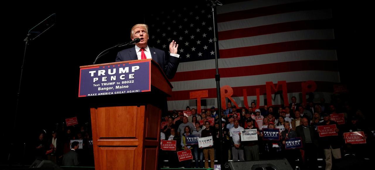 Donald Trump, le 15 octobre à Bangor dans le Maine.
