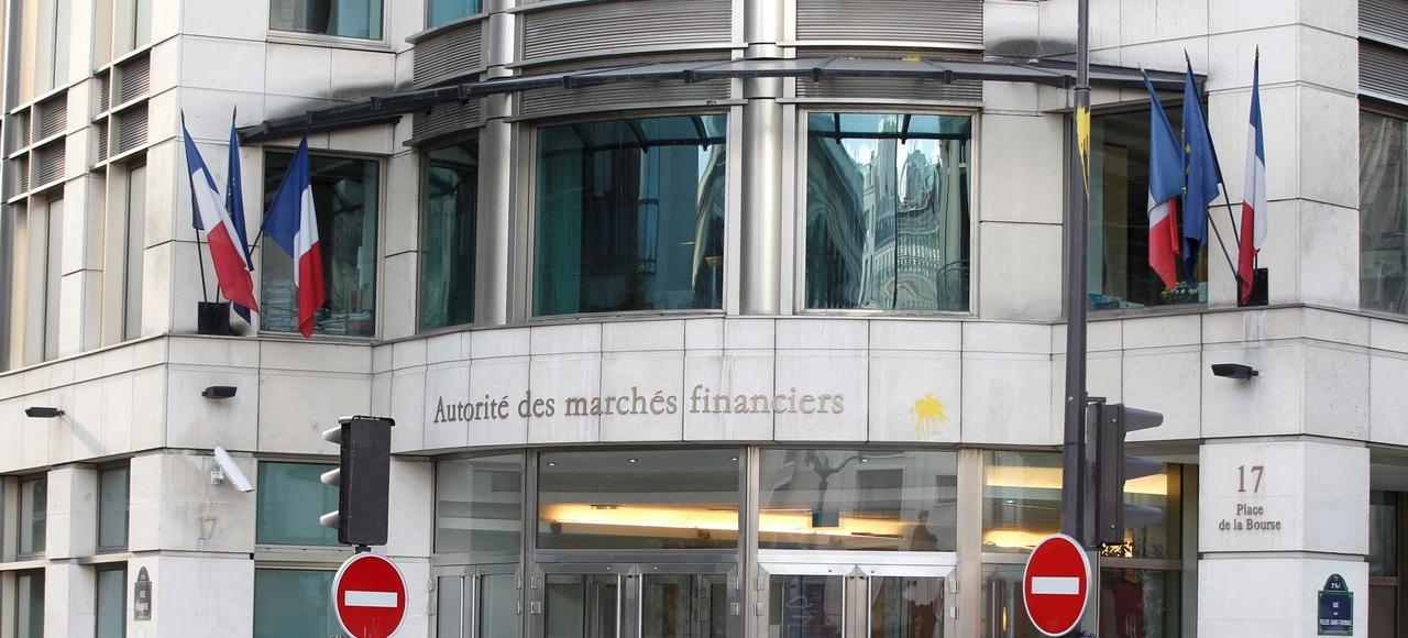 Siège de l'Autorité des marchés financiers, place de la Bourse, à Paris.