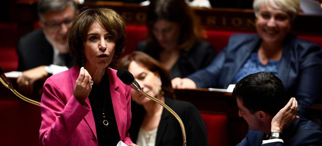 «En 2017, il n'y aura plus de trou de la Sécu. La gauche a fait le job», a annoncé Marisol Touraine, ministre de la Santé <i> (ici à l'Assemblée)</i>, le 22 septembre.