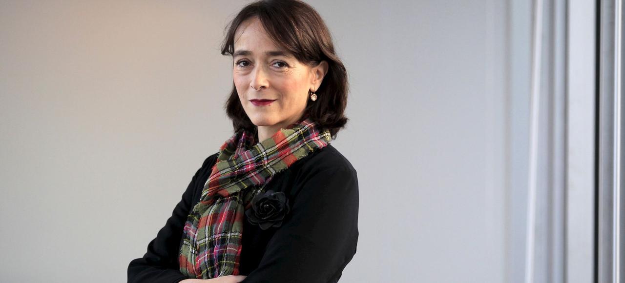 Delphine Ernotte, présidente du groupe audiovisuel France Télévisions, ici dans son bureau.
