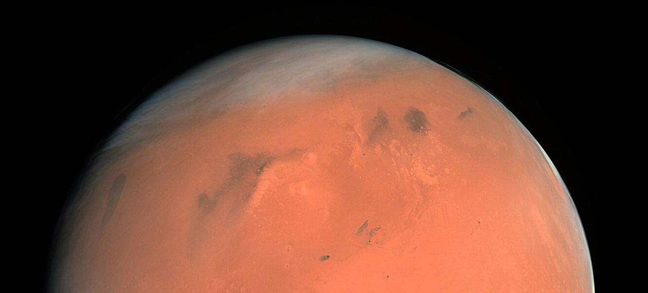 Une vue de la planète rouge.