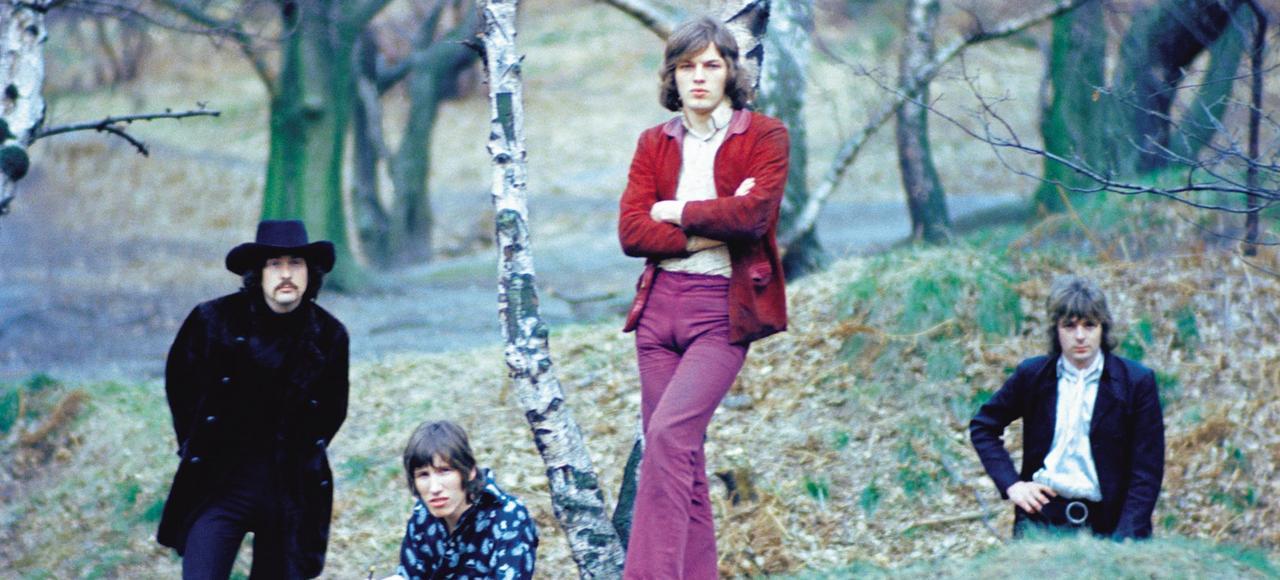 Nick Mason, Roger Waters, David Gilmour et Syd Barrett, en 1968.