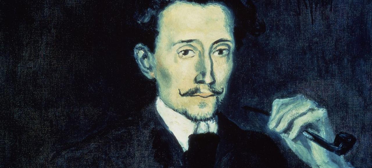 Détail du portrait de Benet Soler de Picasso (1903).