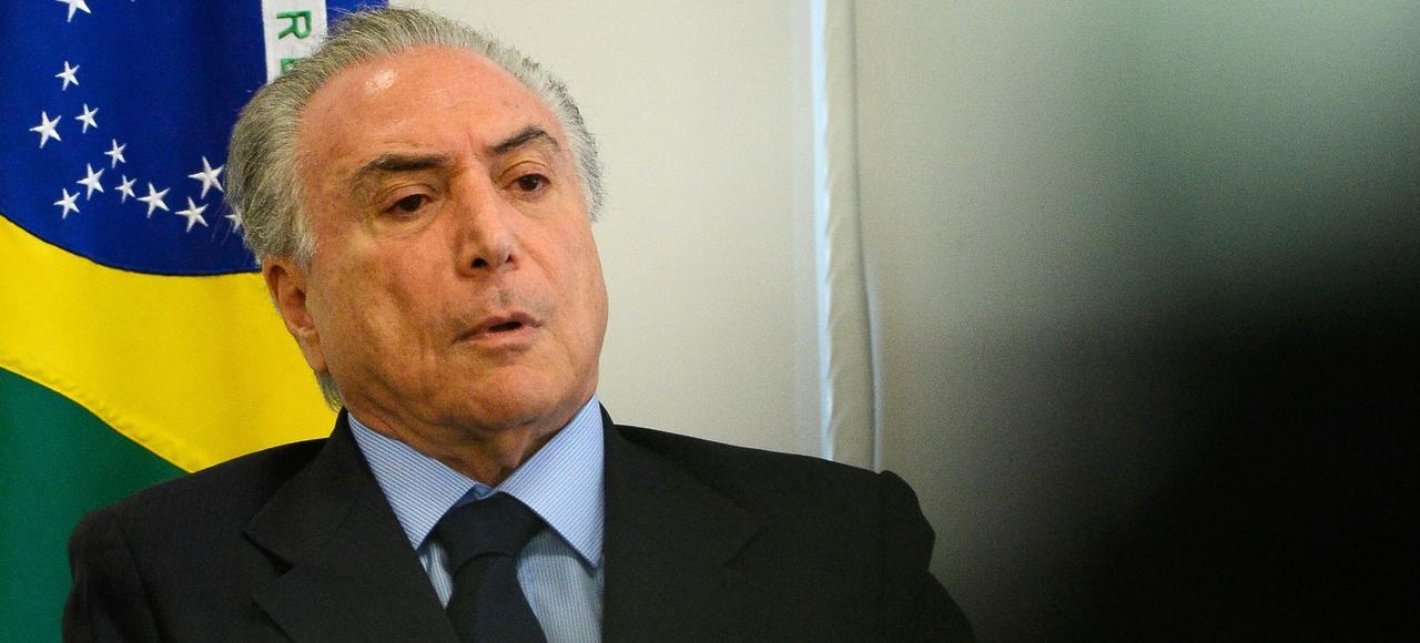 Michel Temer, au palais du Planalto au Brésil, le 11 octobre 2016.
