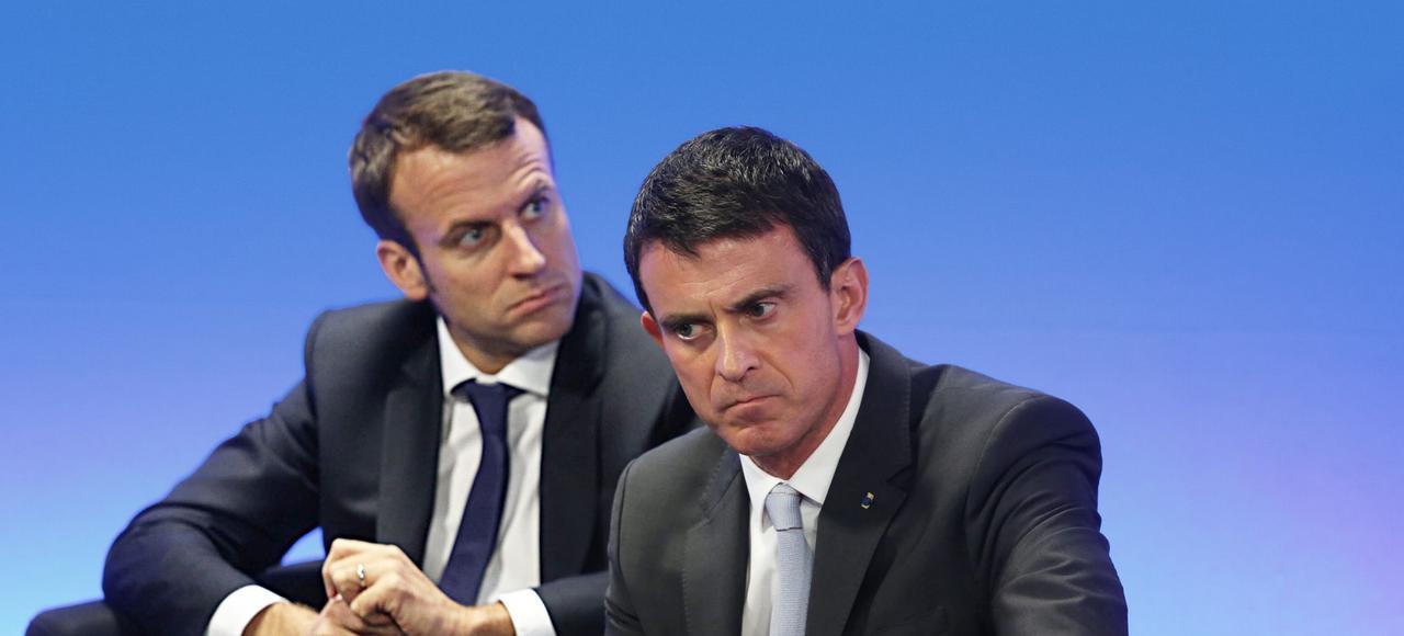 Emmanuel Macron et Manuel Valls ont un même objectif: écarter François Hollande.