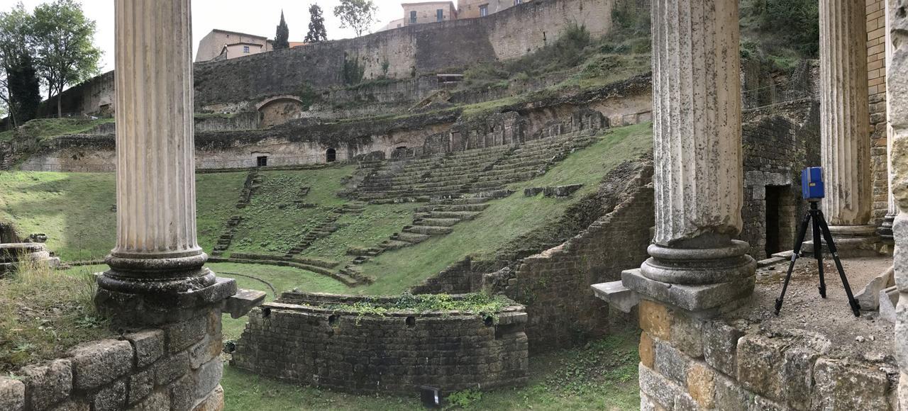 Le théâtre antique de la cité étrusque de Volterra, en Toscane.