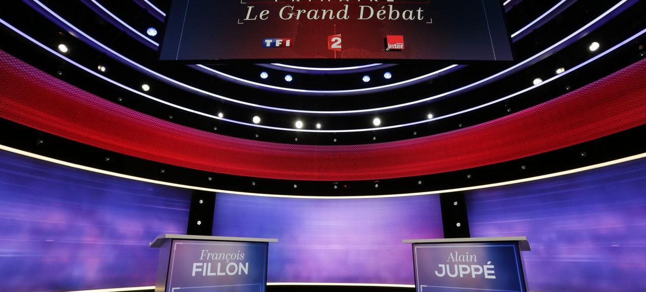 Le plateau où se tiendra le débat, jeudi soir.