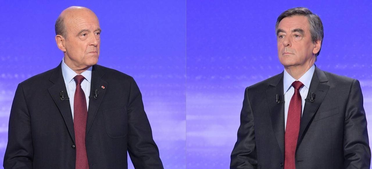 Alain Juppé et François Fillon, finalistes de la primaire de la droite et du centre.