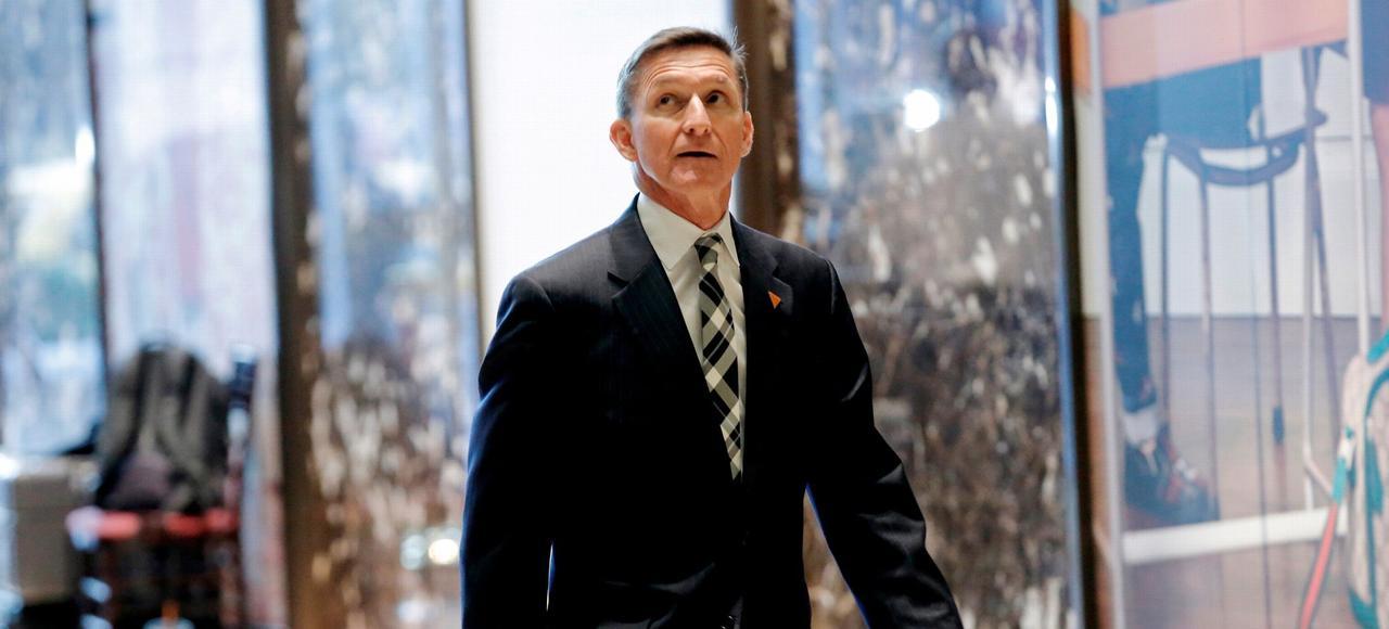 Le général Michael Flynn, à son arrivée à la Trump Tower, le 17 novembre à New York.