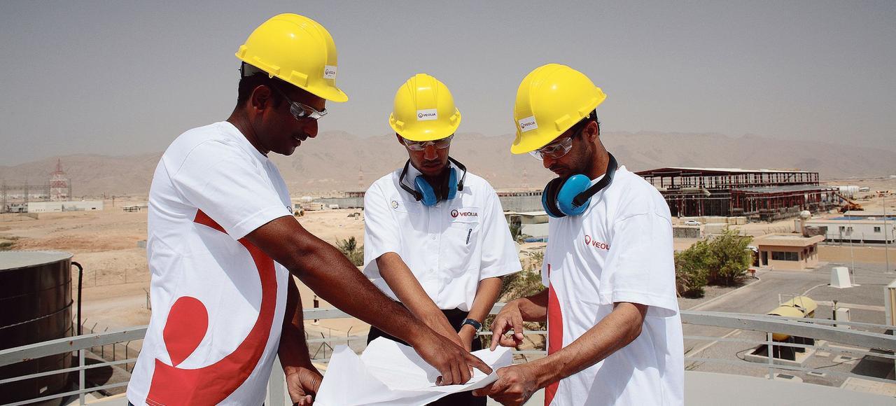 Veolia est présent dans douze pays du Moyen-Orient (ici, une usine de désalinisation de l'eau à Oman) pour un chiffre d'affaires de 1,3 milliard d'euros.