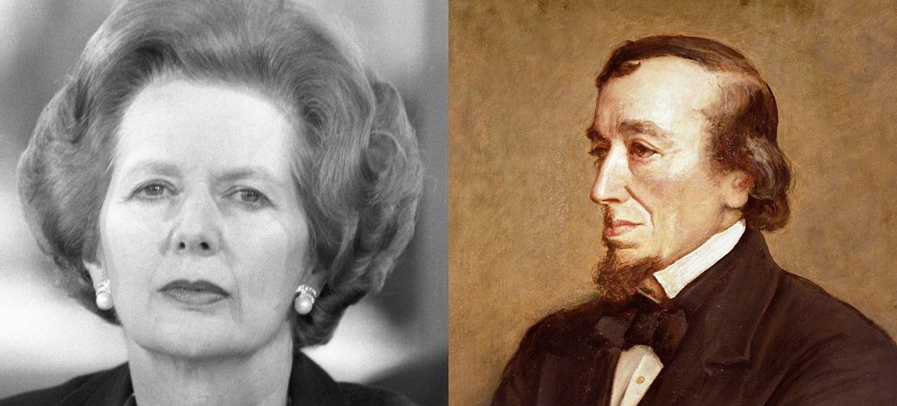 Margaret Thatcher et Benjamin Disraeli.