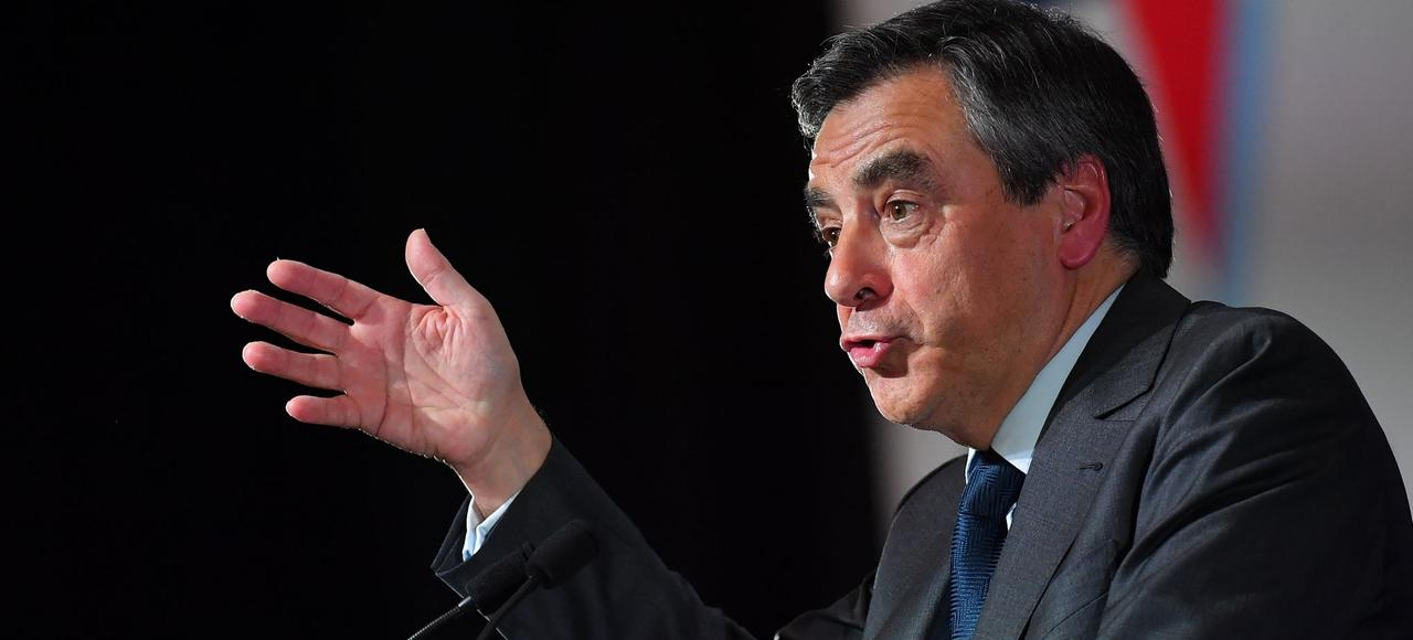 François Fillon lors d'un meeting à Paris.