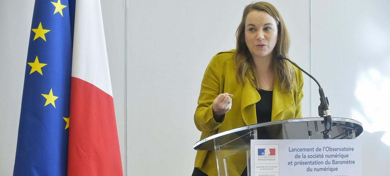 Axelle Lemaire, secrétaire d'État au Numérique, le 29 novembre 2016, à Bercy.