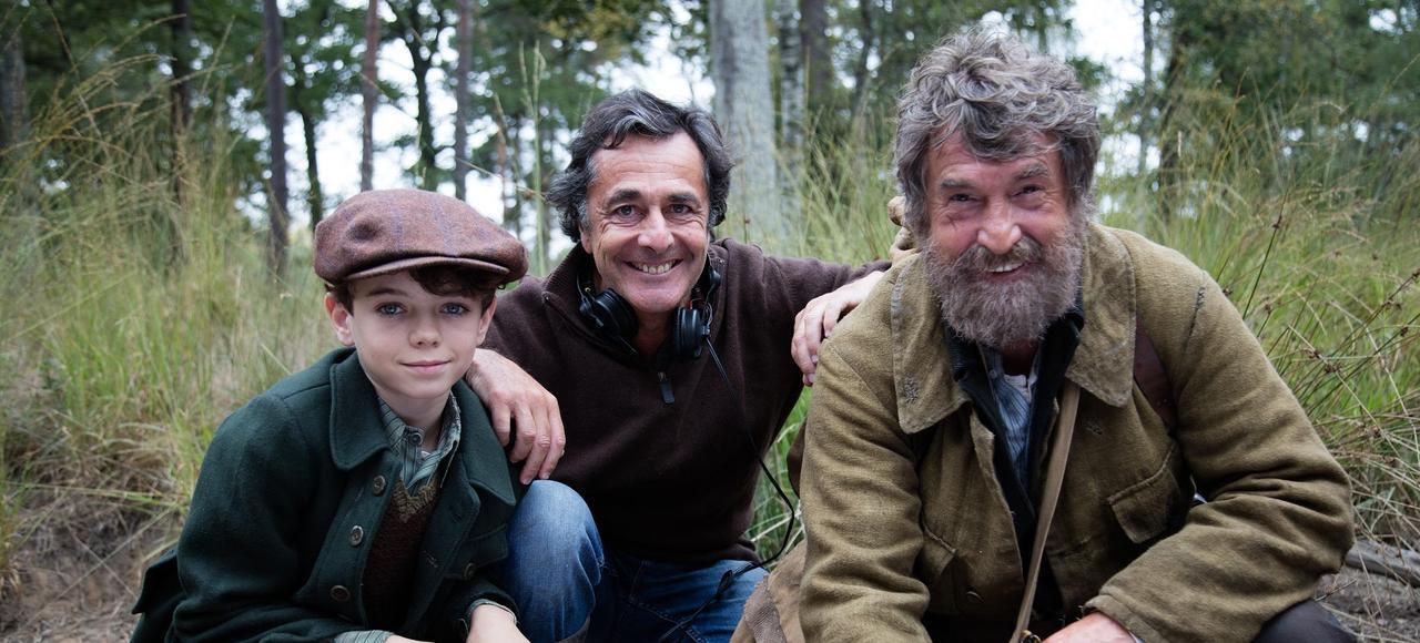 Jean Scandel, Nicolas Vanier et François Cluzet sur le tournage de <i>L'École buissonnière</i>.