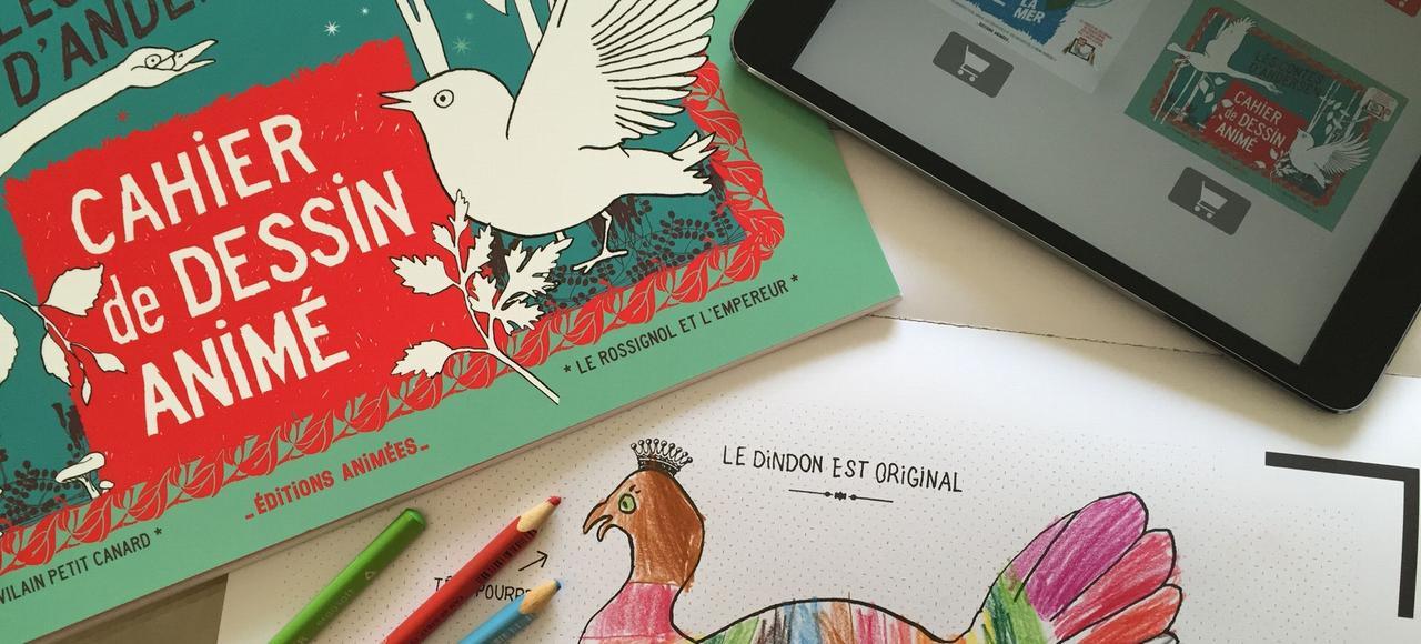 Les contes d'Andersen en réalité augmentée. En passant une tablette par-dessus les pages, le petit lecteur peut interagir avec les illustrations.