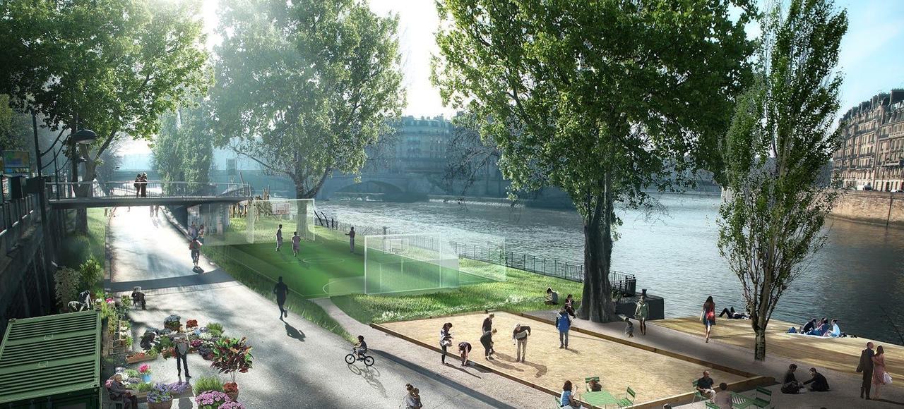 Projet d'aménagement des quais de Seine.