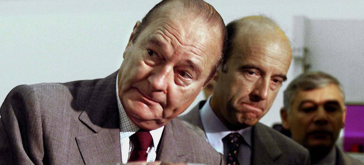 Jacques Chirac et Alain Juppé en juillet 1999 à Bordeaux.