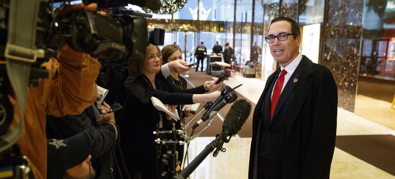 Steve Mnuchin, le futur secrétaire au Trésor de Donald Trump, le 30 novembre à New York.