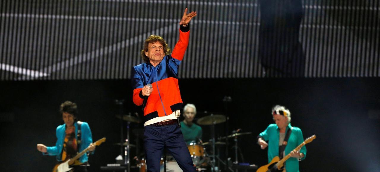 Les Rolling Stones en concert au festival Desert Trip, en Californie le 7 octobre.