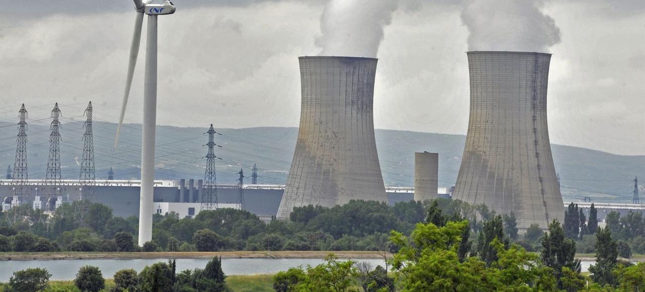 La centrale nucléaire du Tricastin, près de Pierrelatte dans la Drôme.