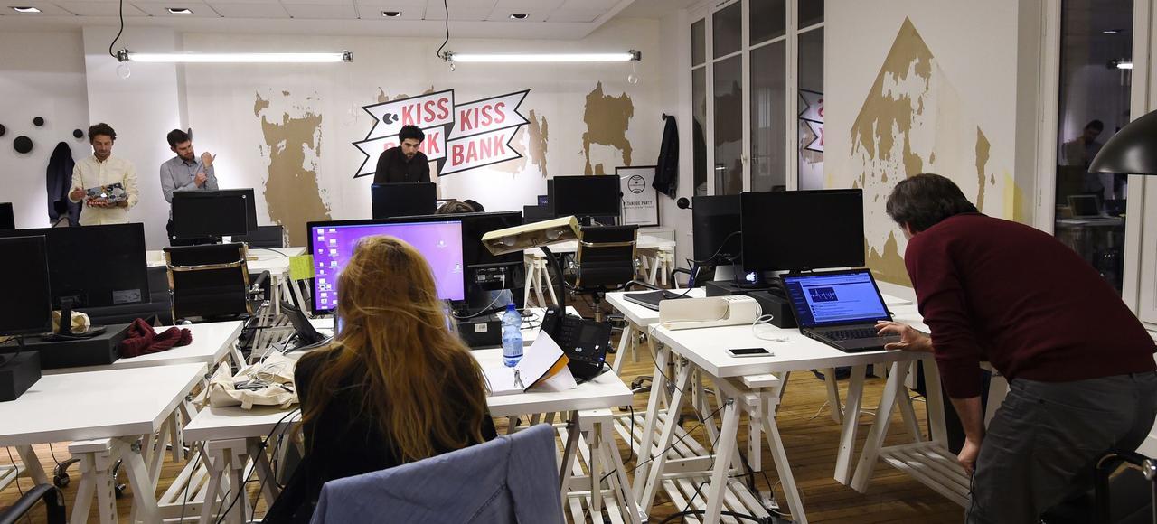 Dans les locaux de la plate-forme de financement participatif KissKissBankBank, à Paris.