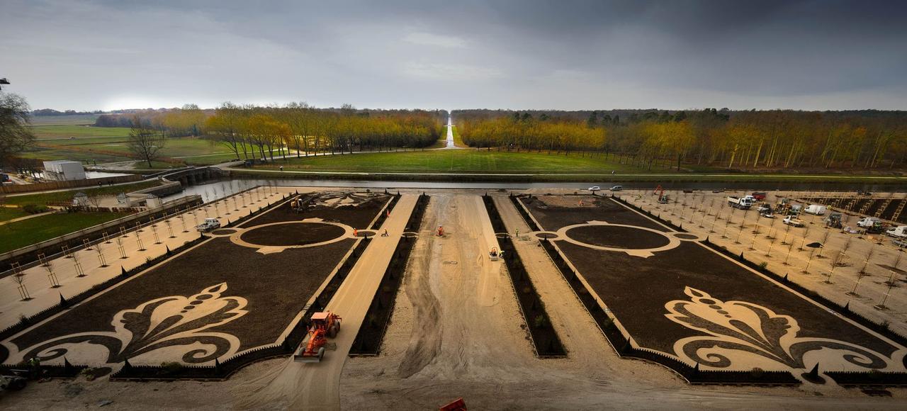 Chambord les jardins de louis xiv vont refleurir for Jardin a la francaise chambord