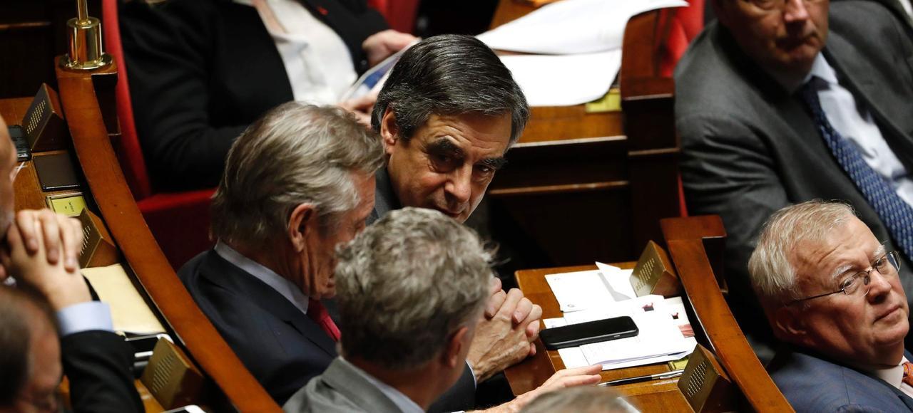 François Fillon à l'Assemblée nationale, mardi.