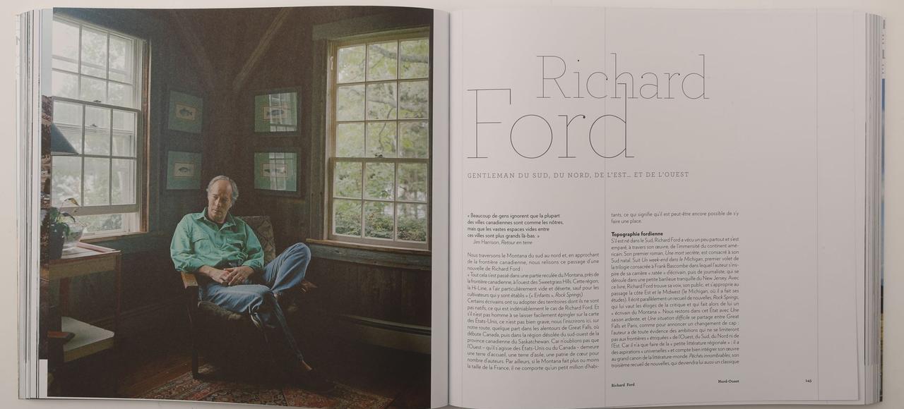Richard Ford photographié par Jean-Luc Bertini.