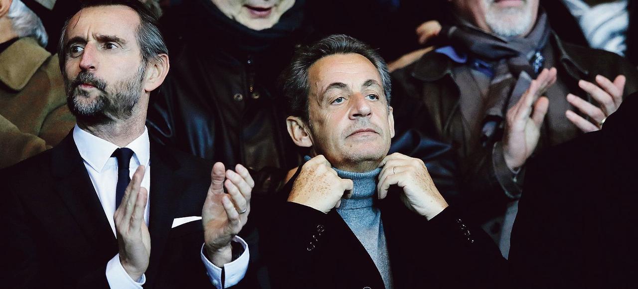 Nicolas Sarkozy assiste à PSG-Nice, dimanche dernier, au Parc des Princes.