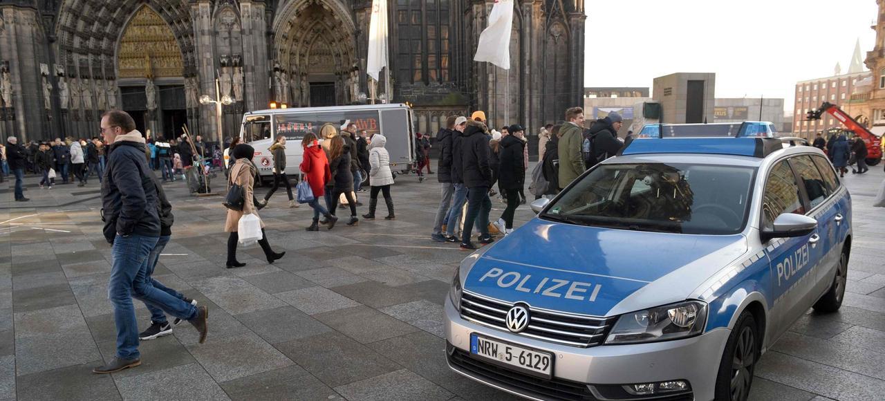 La ville de Cologne se prépar aux festivités de fin d'année, vendredi.