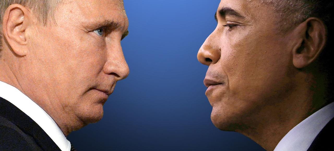 Barack Obama et Vladimir Poutine lors d'un sommet du G20 à Antalya (Turquie), le 15 novembre 2015.