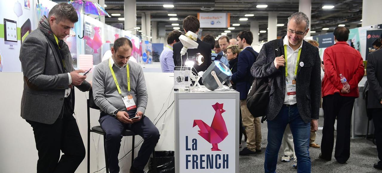 Le stand de la French Tech, vendredi, à Las Vegas, lors du Consumer Electronics Show (CES), le plus grand salon mondial de l'électronique.