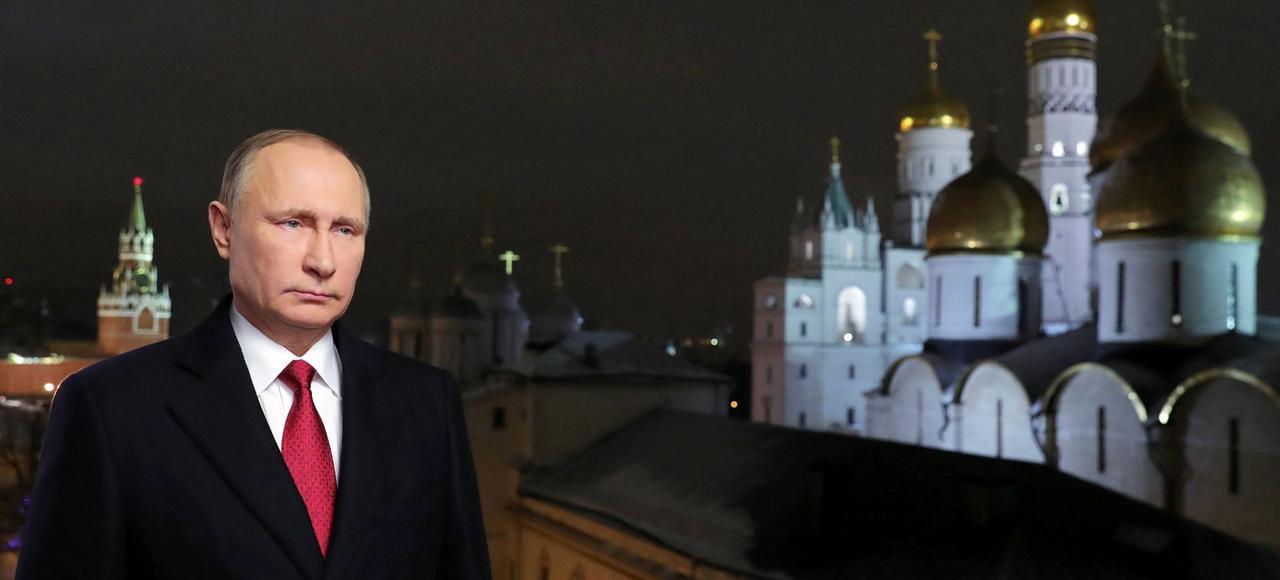 Vladimir Poutine, lors de ses voeux à la nation russe, le 31 décembre 2016.