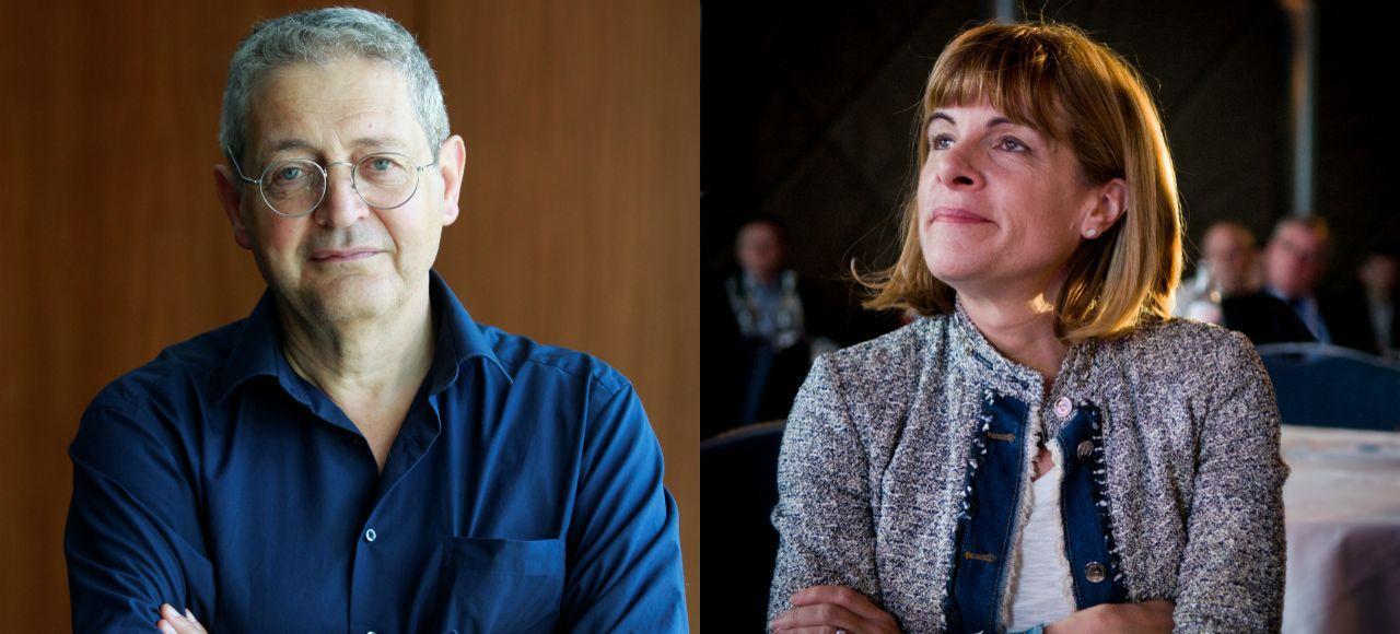 A gauche, Georges Bensoussan, poursuivi pour islamophobie. A droite, Anne Lauvergeon, relaxée pour discrimination raciale.