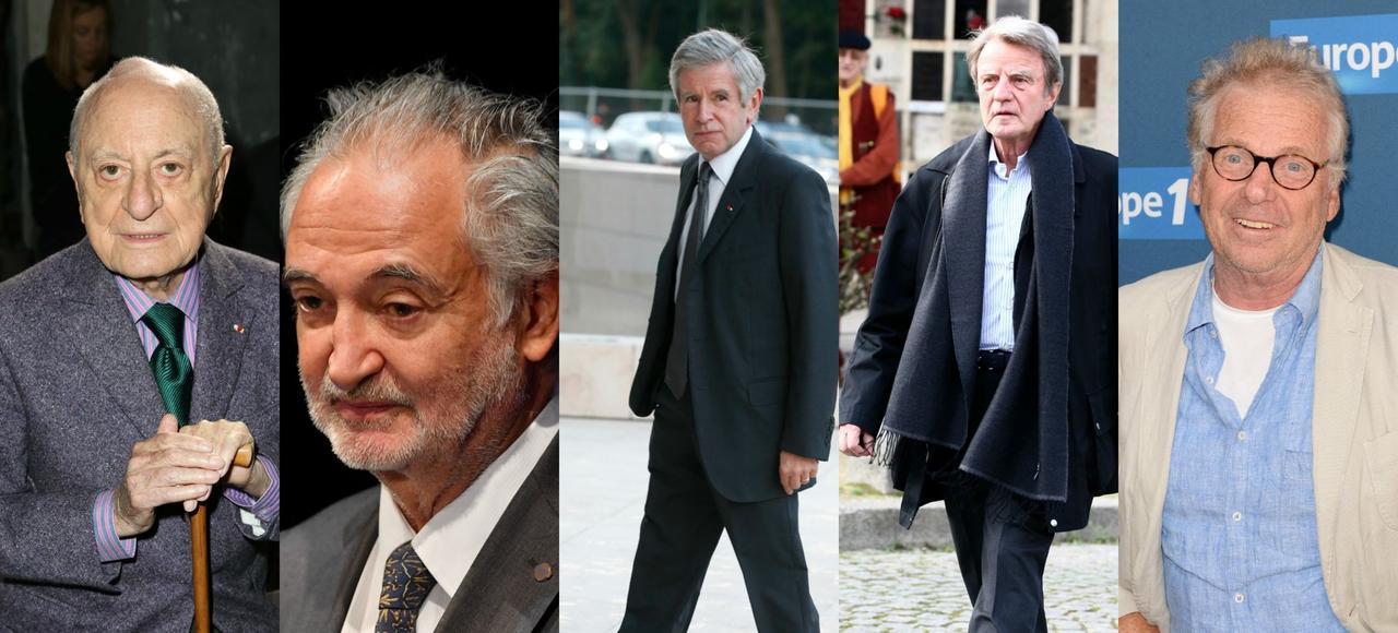Pierre Bergé, Jacques Attali, Alain Minc, Bernard Kouchner et Daniel Cohn-Bendit.