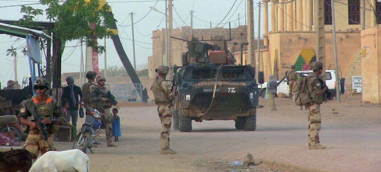 Soldats français de la force Barkhane, à Kidal, au Mali.