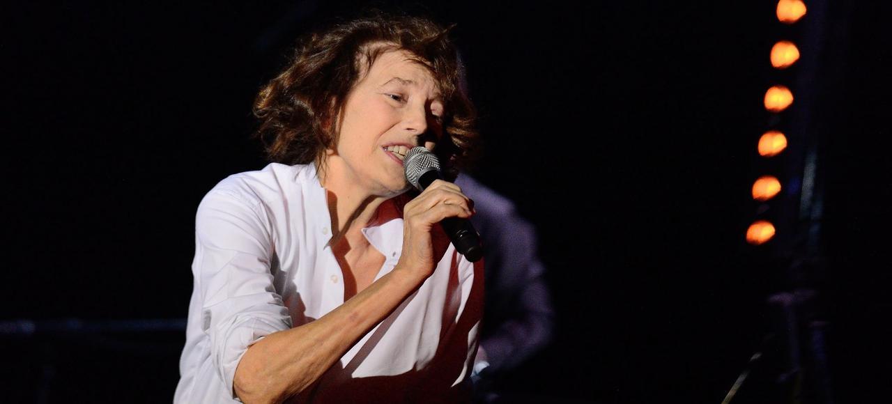 Jane Birkin, lors d'un concert à La Cigale, à Paris, en juin 2013.