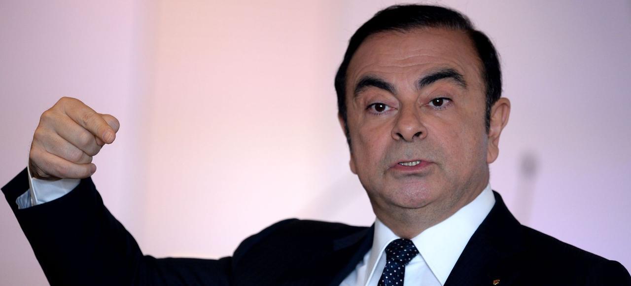 Carlos Ghosn, lors de la présentation des resultats de Renault vendredi à Boulogne-Billancourt.