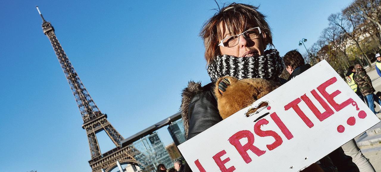 Manifestation des travailleurs indépendants contre le RSI, le 28 novembre dernier, à Paris.