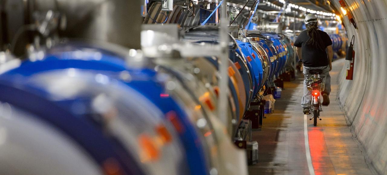 Le tunnel du LHC.